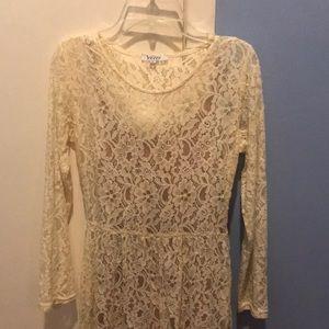 Lace high-low dress